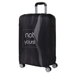 Чехол для большого чемодана, из полиэстера, черного цвета от Fabretti, арт. W1004-L
