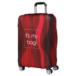 Чехол для большого чемодана, из полиэстера, красного цвета от Fabretti, арт. W1005-L