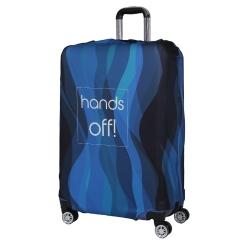 Чехол для большого чемодана, из полиэстера, синего цвета от Fabretti, арт. W1006-L