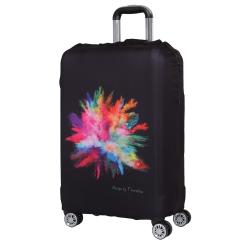 Чехол для большого чемодана, из полиэстера, черного цвета, с ярким принтом от Fabretti, арт. W1007-L