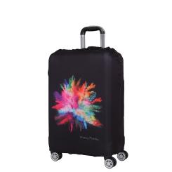 Чехол для чемодана из полиэстера, черного цвета, с интересным принтом от Fabretti, арт. W1007-M