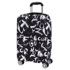 Чехол для большого чемодана, из полиэстера, черного цвета, с принтом от Fabretti, арт. W1008-L