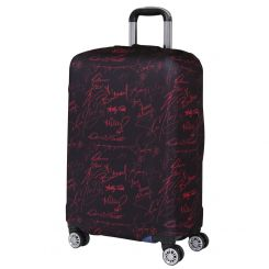 Чехол для большого чемодана, из полиэстера, черного цвета от Fabretti, арт. W1009-L