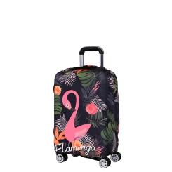 Чехол для чемодана из полиэстера, темно зеленого цвета, с изображением птицы от Fabretti, арт. W1011-S