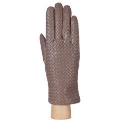 Стильные женские перчатки из натуральной кожи ягненка бежевого цвета от Fabretti, арт. F13-5 beige