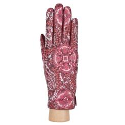 Эксклюзивные женские перчатки из натуральной кожи ягненка бордового цвета от Fabretti, арт. F18-8 bordo