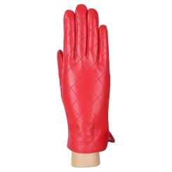 Классические женские перчатки из натуральной кожи ягненка красного цвета от Fabretti, арт. F23-7 red