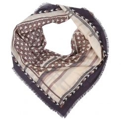 Женский платок коричневого цвета, из 100% шерсти от Fabretti, арт. G80014-1