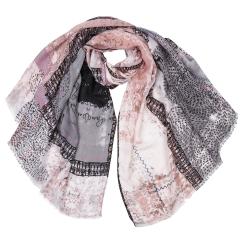 Модный женский шарф с оригинальным принтом, из 100% вискозы от Fabretti, арт. JT7477-1