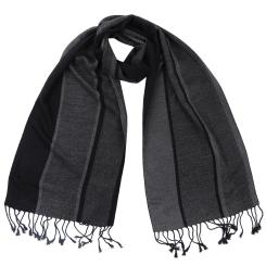 Дизайнерский мужской шарф в классическом стиле из вискозы и шелка от Fabretti, арт. WR571-3