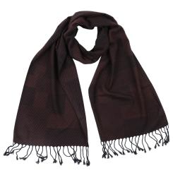Элегантный мужской шарф коричневого цвета из вискозы и шелка от Fabretti, арт. WR579-4