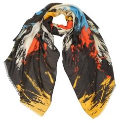 Оригинальный женский шарф с яркой абстракцией, выполнен из 100% вискозы от Fabretti, арт. YS236-5