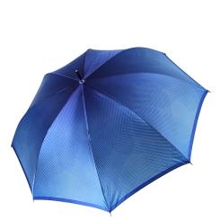 Стильный женский зонт-трость из сатина насыщенного голубого цвета от Fabretti, арт. 1708