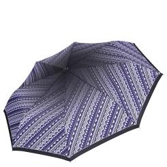 Стильный женский зонт в фиолетовых тонах с интересным принтом от Fabretti, арт. L-16108-5