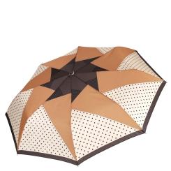 Элегантный женский зонт в коричневых тонах от Fabretti, арт. L-16109-1