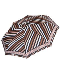 Стильный и изящный зонт из эпонжа в коричневых тонах от Fabretti, арт. L-16109-2