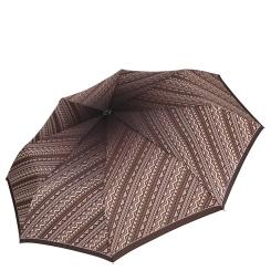 Модный и стильный коричневый женский зонт из эпонжа от итальянского бренда от Fabretti, арт. L-16109-4