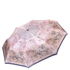 Дизайнерский женский зонт из сатина с интересным рисунком от Fabretti, арт. L-16111-2
