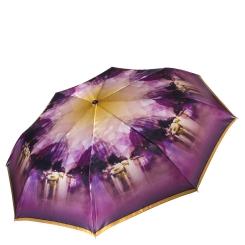 Стильный и красивый женский зонт из сатина в фиолетовых тонах от Fabretti, арт. L-16113-2