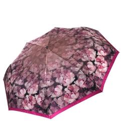 Женский зонт из сатина в ярких тонах с красивым цветочным принтом от Fabretti, арт. L-16113-4