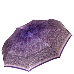 Женский зонт из сатина фиолетового цвета с красивым принтом от Fabretti, арт. L-16113-6