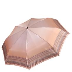 Элегантный женский зонт из сатина c ультрамодным дизайнерским принтом от Fabretti, арт. L-17107-1