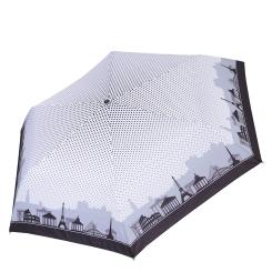 Красивый и компактный зонт из эпонжа с уникальным принтом от Fabretti, арт. MX-17100-7