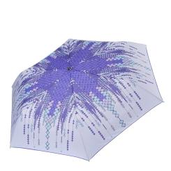 Стильный женский зонт с нежным сиреневым оттенком и ярким принтом от Fabretti, арт. MX-17100-9