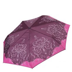 Классический компактный женский зонт с куполом из эпонжа от Fabretti, арт. P-17101-10