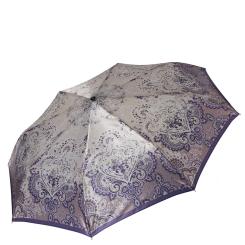 Женский зонт автомат из сатина, выполненный в бежевых тонах от Fabretti, арт. S-16106-4