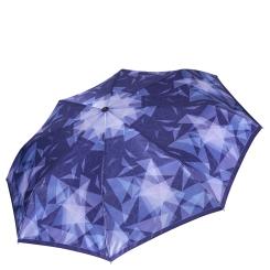 Женский зонт автомат из сатина с сине-фиолетовым куполом от Fabretti, арт. S-16107-3