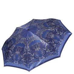 Стильный женский зонт автомат, модель в синих тонах с серыми оттенками от Fabretti, арт. S-16108-1