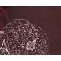 Легкий женский шарф бордового цвета из нежнейшего шелка от Fabretti, арт. 14YL053-A