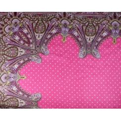 Яркий женский платок с красивым принтом, выполнен из льна и модала от Fabretti, арт. 73-1