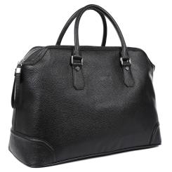 Мужская дорожная сумка из натуральной кожи, модель для командировок от Fabretti, арт. B333-black