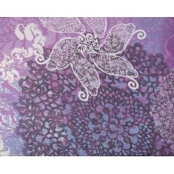 Элегантный женский шарф из нежного шелка с цветочным принтом от Fabretti, арт. CLSCF-06-3