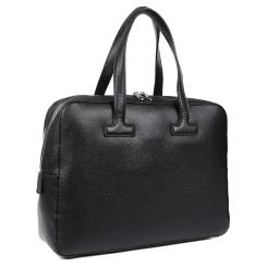 Большая мужская кожаная деловая сумка, модель для документов и ноутбука от Fabretti, арт. CSN3537-black