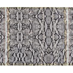Стильный женский платок с змеиным принтом, из 100% шелка от Fabretti, арт. CX1516-67-19
