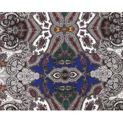 Изысканный женский платок с красивым принтом, выполнен из 100% шелка от Fabretti, арт. CX1608-A