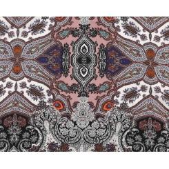 Женский платок с необычным принтом, из 100% шелка от Fabretti, арт. CX1608-C