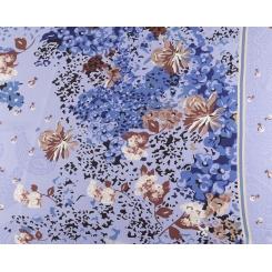 Шелковый женский шарф голубого цвета с красивым цветочным рисунком от Fabretti, арт. CX1627-8