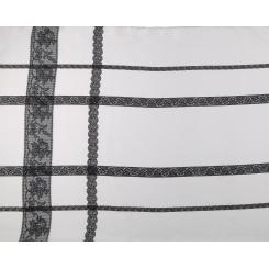 Элегантный белый женский шарф из легкого шелка с черными полосами от Fabretti, арт. CX1629-A