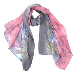 Красивый женский шарф с красивым узором, выполнен из модала от Fabretti, арт. F15561-4