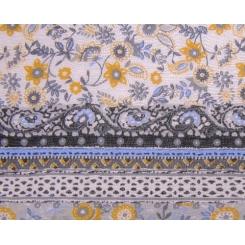Женский палантин из льна и модала с нежным цветочным узором от Fabretti, арт. JMP01-2