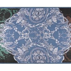 Элегантный женский шарф  из 100% шелка с красивым орнаментом от Fabretti, арт. KSS101-2