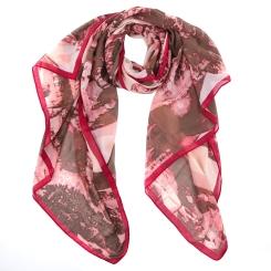 Элегантный женский шарф с красивым принтом, из 100% вискозы от Fabretti, арт. S1536-1