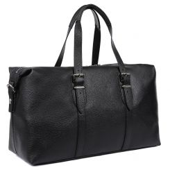 Просторная мужская дорожная сумка, выполнена из натуральной кожи от Fabretti, арт. S5040-black
