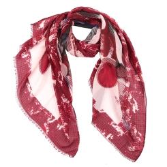 Модный женский шарф с ярким принтом, выполнен из 100% вискозы от Fabretti, арт. XX004-D