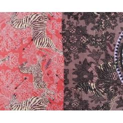 Яркий женский шарф красного цвета с красивым принтом из теплой шерсти от Fabretti, арт. YQ14003