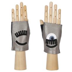 Автомобильные женские перчатки-митенки из натуральной кожи ягненка от Fabretti, арт. 12.92-26N bronze